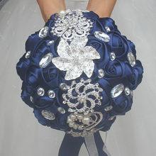 WIFELAI-A Искусственный Свадебный букет s ручной работы цветок Стразы невесты Кристалл Свадебный букет de mariage W228(China)