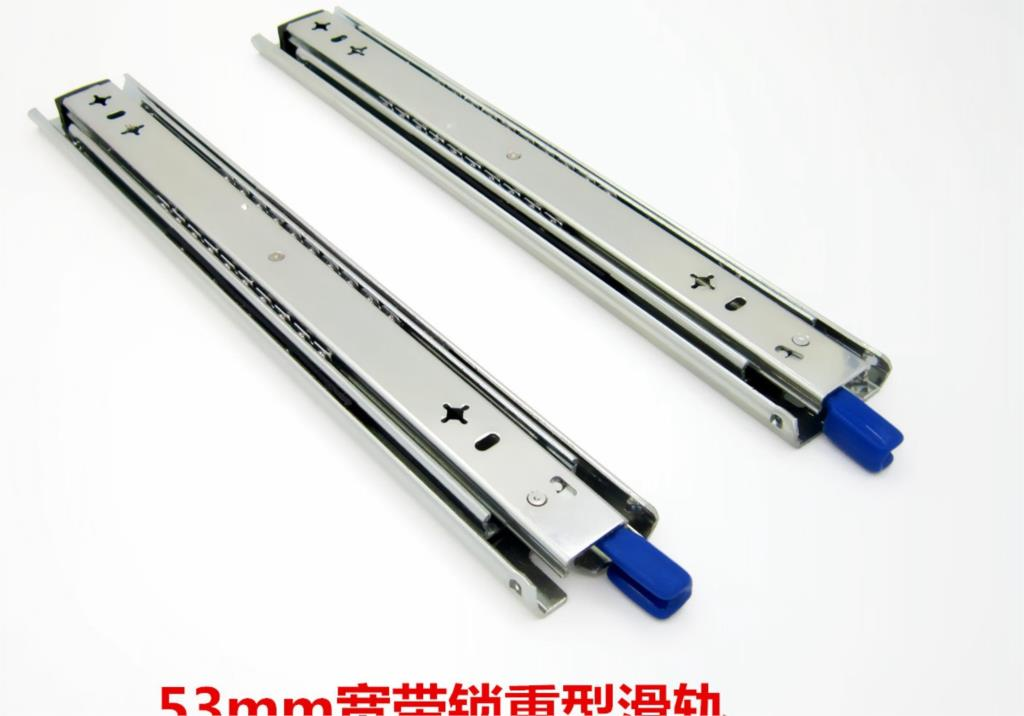 Thick heavy rail 53 broadband self-locking drawer track mute lengthened three cabinet slide rails<br><br>Aliexpress