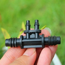 New 20Pcs/Lot Irrigation Fittings Plastic Micro Water Hose Connectors Nozzle Drip 3/8 To 1/4Inch Black Garden Supplies(China (Mainland))