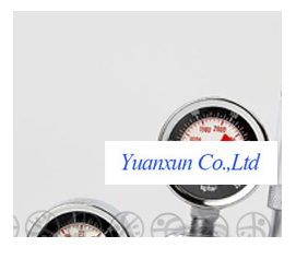 Фотография Professional water CO2 water cylinder decompression table barometer tale of two tables containing bubbles of carbon dioxide