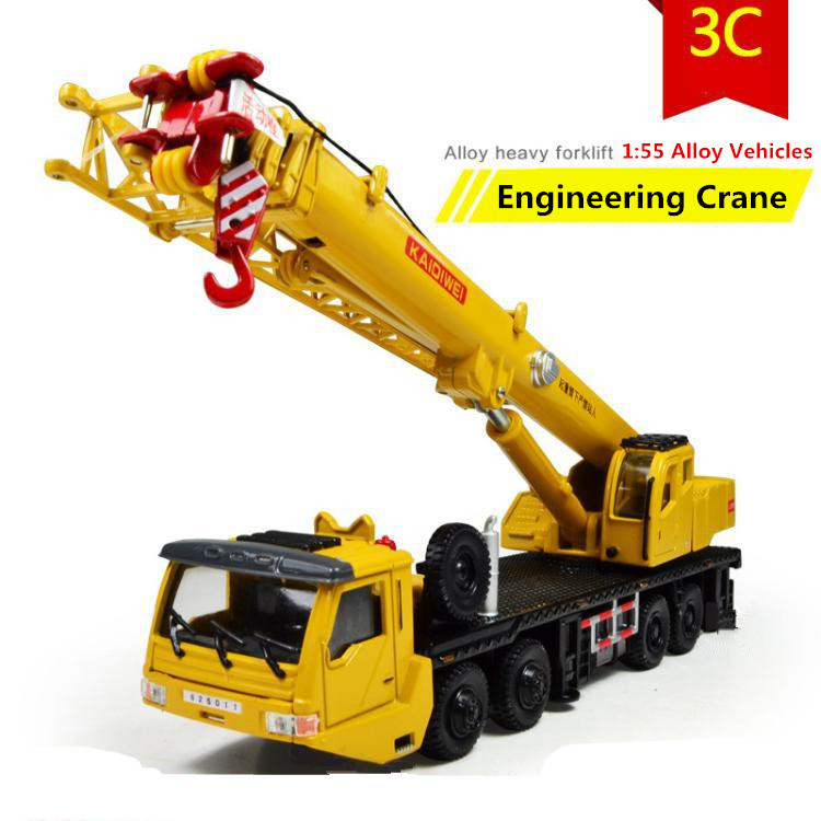 2014 Hot sale ! 1 : 55 alloy Sliding construction crane model Toys, children's educational toys, free shipping(China (Mainland))
