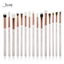 Jessup Pearl White/Rose Gold Professional Makeup Brushes Set Make up Brush Tools kit Eye Liner Shader natural-synthetic hair(China (Mainland))