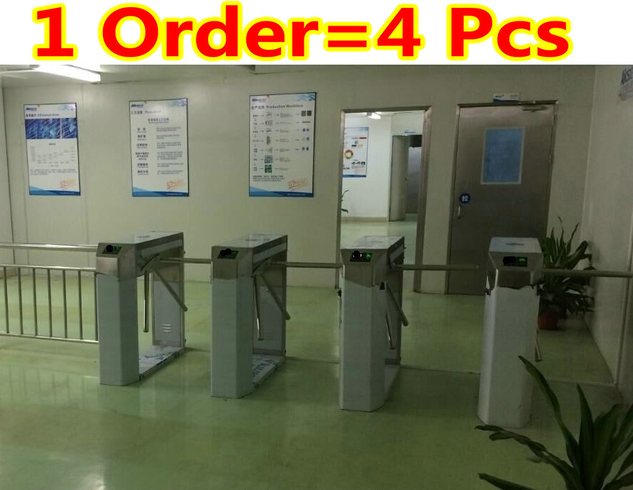 1 order=4 pcs High Quality Security Access Control System Semi-Auto Box Style Tripod Turnstile integrate system+Door Entry/Exit(China (Mainland))