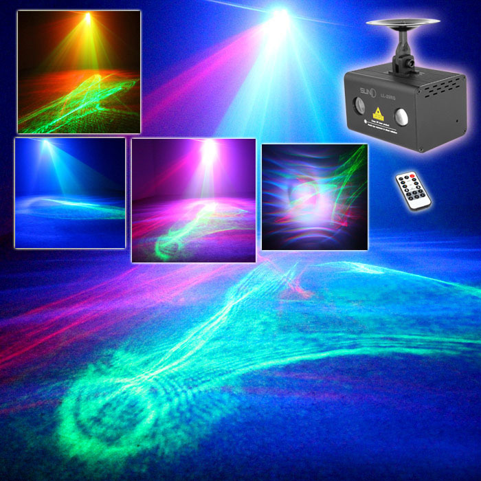 Фотография NEW Remote Stage Mini LED Full Color  Water Wave Effect Laser Light Disco Laser Effect Light Show For DJ, Party, Club, KTV