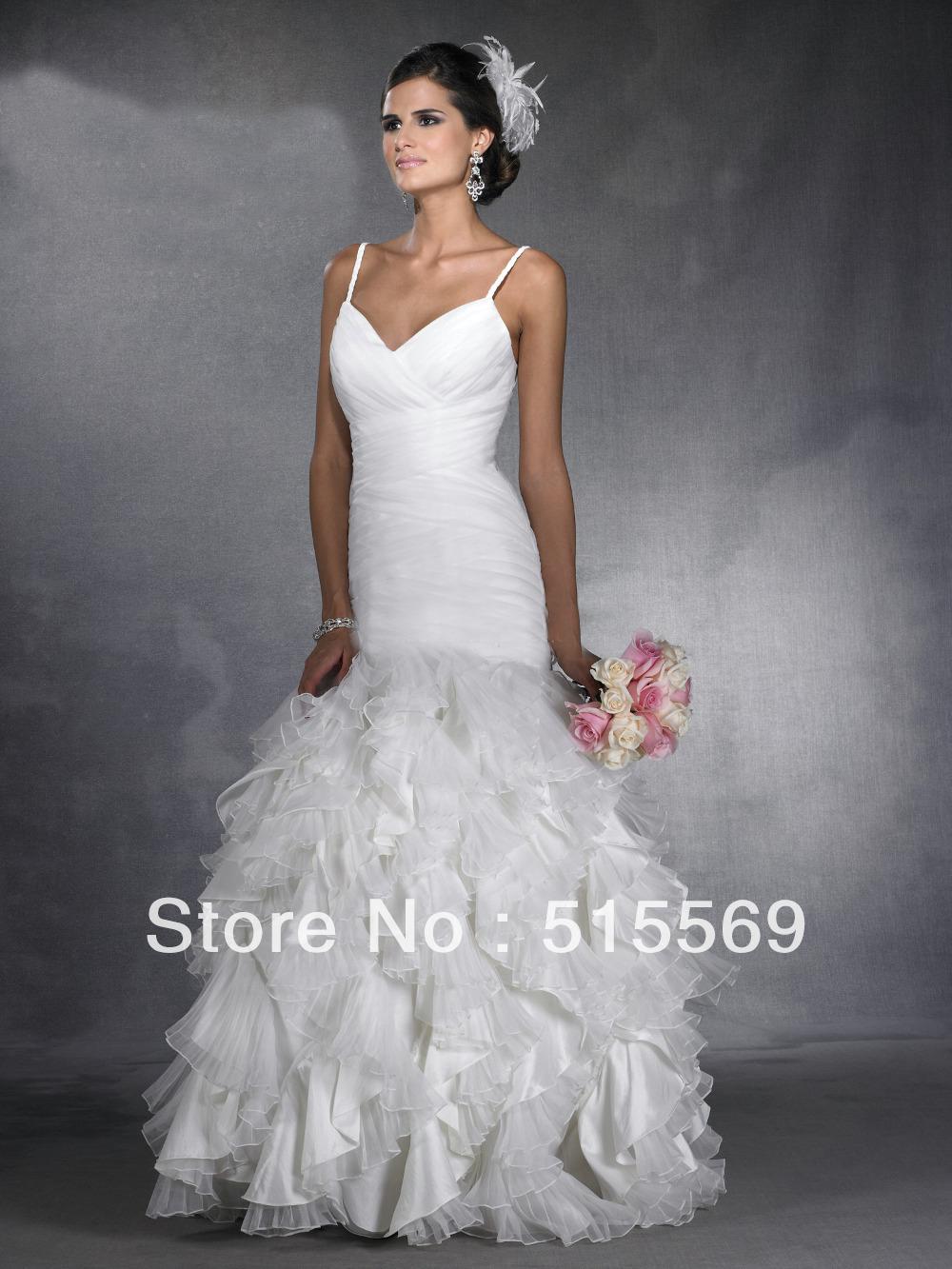 Best selling simple unique mermaid floor length white for Best selling wedding dresses