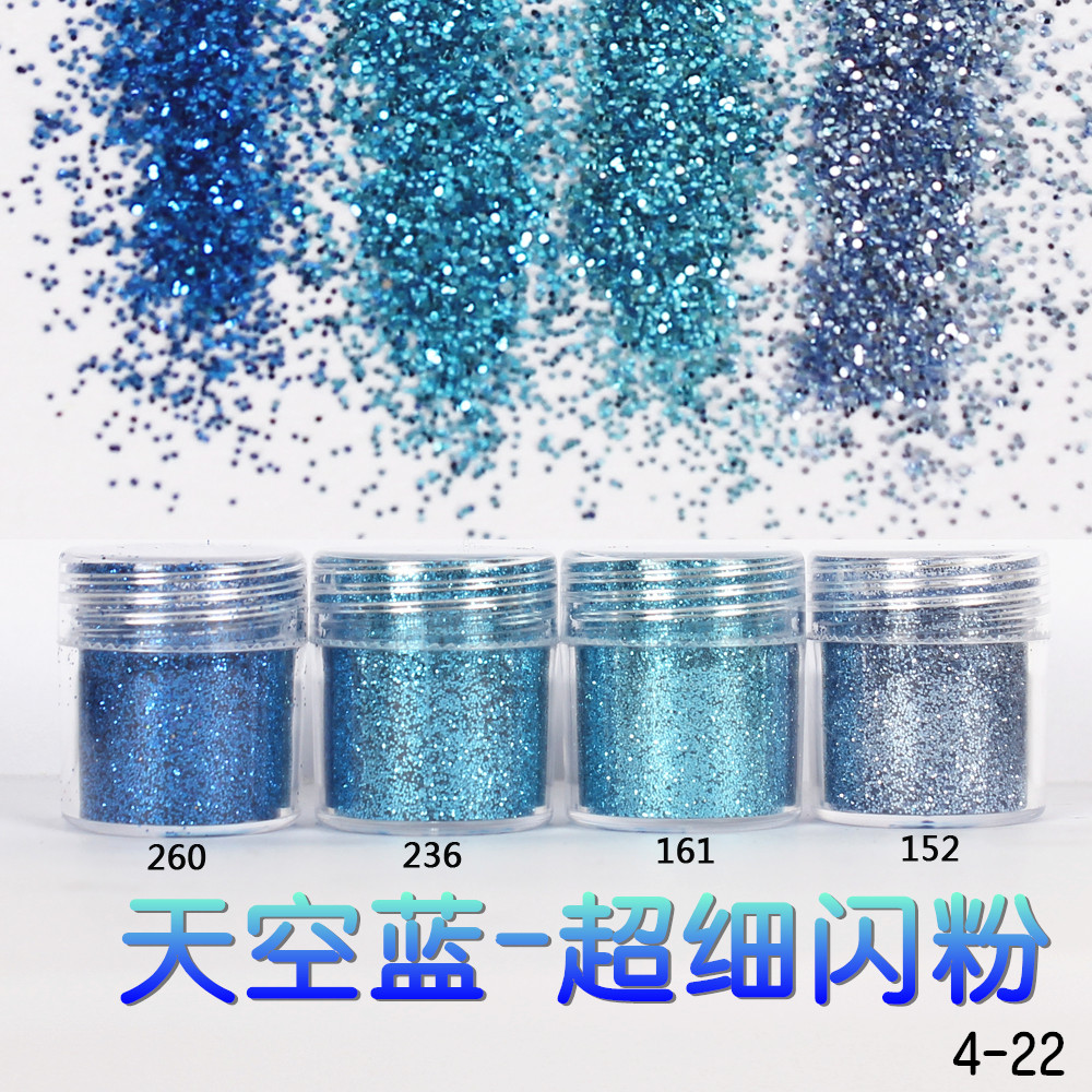 1Box Sky Blue Dazzling Nail Glitter Powder Super Fine Acrylic Nail Powder Sheets Nail Dust Tips 3D Nail Art Decoration(China (Mainland))