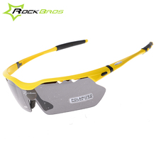 Buy Hot! RockBros Polarized Cycling Sun Glasses Outdoor Sports Bicycle Glasses Bike Sunglasses TR90 Goggles Eyewear 5 Lens #10014 for $13.99 in AliExpress store