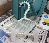 White Plastic Pearls Beads Hanger for Clothes Pegs with clips hangers Home Kids store Supplies D397
