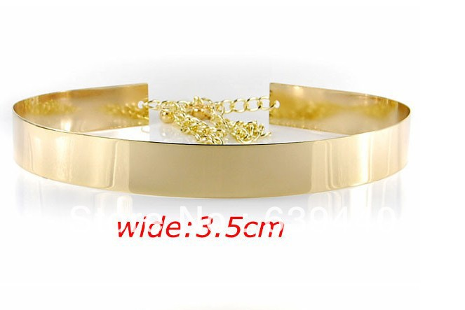 Free Shipping Best Selling 2013 New Arrival Item Belt Jewelry Metal Gold High Quality Waistband With Chain(China (Mainland))
