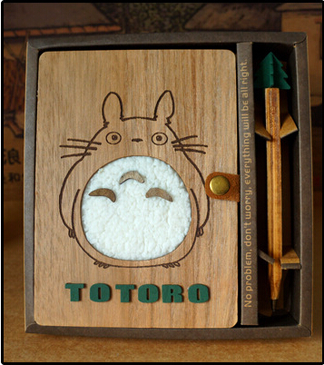 Japanese Notebook Paper Anime Gift Totoro Cuadernos nNotebook A5 Planner Oil Pen Wool Cover Thin Diary Book(China (Mainland))