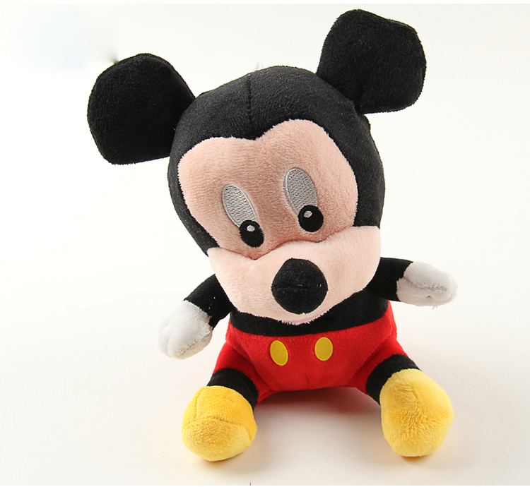 1pcs 28cm Mini Lovely Mickey Mouse And Minnie Mouse Stuffed Animals Soft Plush Toys High Quality Gifts In stock(China (Mainland))