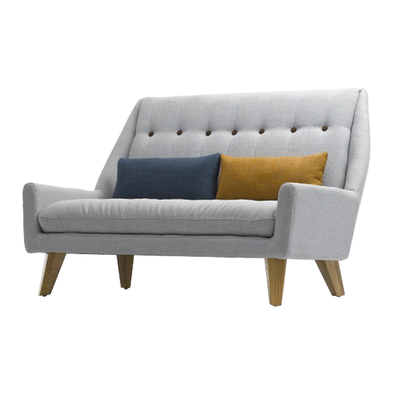 After the special modern loft small fresh linen wood ikea Small modern sofa
