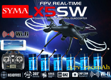 SYMA X5SW X5SW-1 FPV Drone X5C Upgrade 2MP WiFi Camera Real Time Video RC Quadcopter 2.4G 6-Axis Quadrocopter With 6 Battery