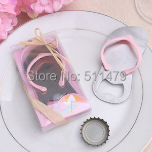 "Arriavla ""Pop Top"" Pink Flip-Flop Bottle Opener Bridal Shower Favors+100sets/LOT+ - Perfect Wedding Favors Co.,Ltd store"