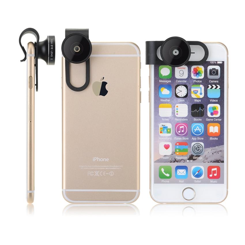 Aluminum Clip-On Premium Fisheye Camera For Apple iPhone 6 6 Plus iPhone 5 5S iPad Air Tablet PC Laptops Samsung Blackberry(China (Mainland))
