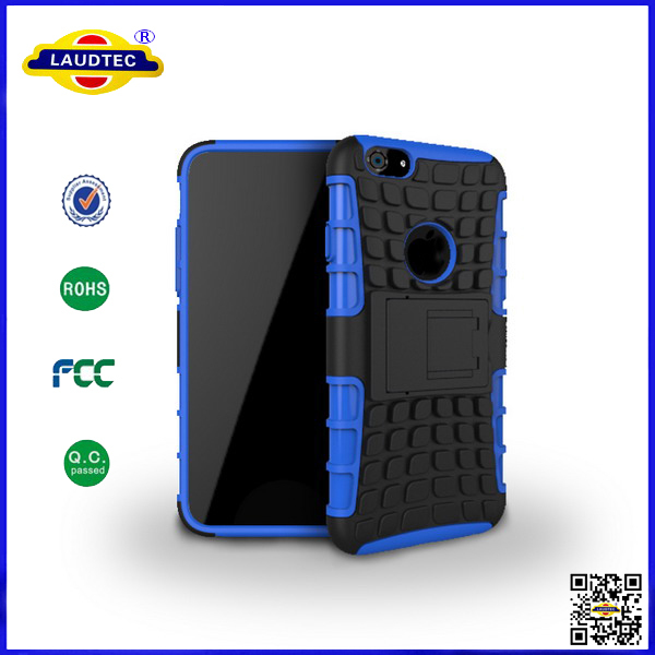 200pcs/lot for iphone 6 rugged hybrid shockproof hard cover case Laudtec(China (Mainland))