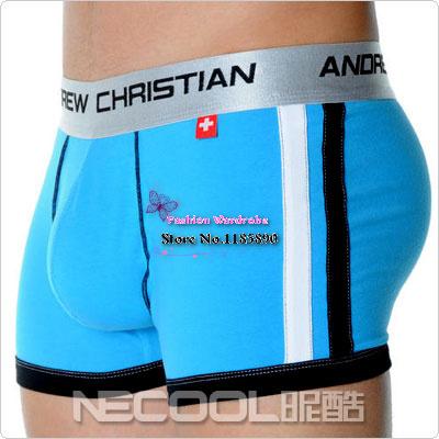 2015 Men Marcas Underwear Andrew Christian Male Boxers U Convex Pouch Sexy Modal Underpants Cueca Boxer