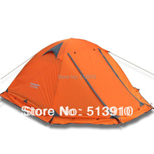 Winter tent with snow skirt!2-3persons aluminum pole double layer double door windproof big rain proof professional camping tent(China (Mainland))