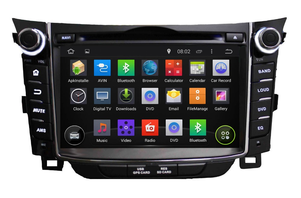 Quad Core HD 1024*600 Android 4.4.4 hyundai i30 DVD gps TV 2011 2012 2013 2014 2015+Capacitive Screen+WIFI 3G+MirrorLink(China (Mainland))