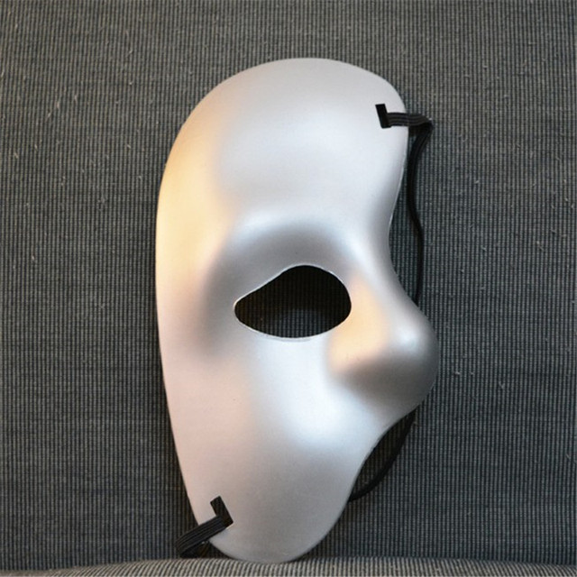 Phantom of The Opera Half Mask Mardi Gras Adult Masquerade Men Face Masks