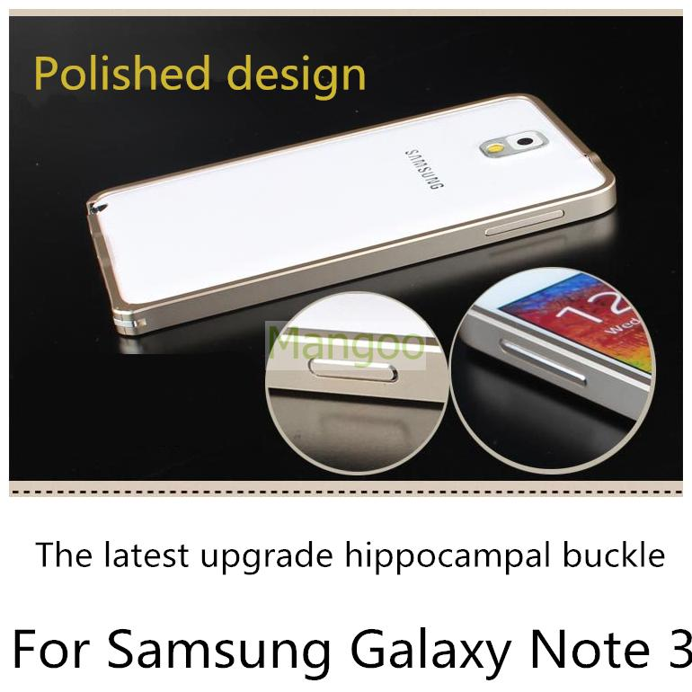 Top Selling bumper Samsung galaxy note 3 case Ultra Thin Slim Aluminium Metal Hippocampus Button Bumper Frame Cover Case - Mangoo Group Co., Ltd. store