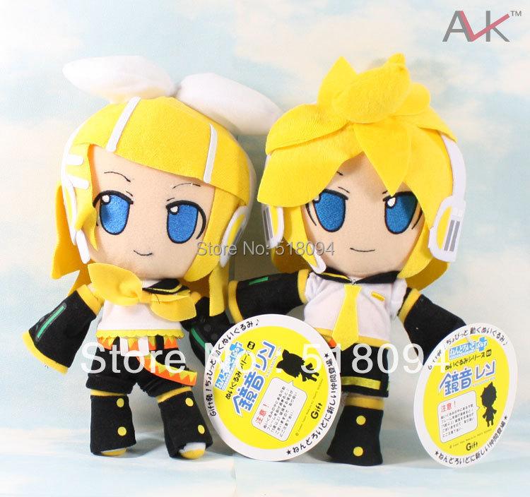 Free Shipping Japanese Anime Cartoon Vocaloid Kagamine Rin/Ren Plush Toy Animal Plush Doll 11 Chritmas Brithday Gift 2pcs/lot<br><br>Aliexpress