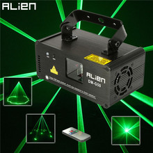 ALIEN Remote 50mw Green Laser Projector Professional Stage Lighting Effect DMX 512 Scanner DJ Disco Party Show Lights(China (Mainland))