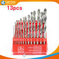 Free Shipping 13Pcs Lot 1 5 6 5mm Titanium Coated HSS High Speed Steel silvery Drill