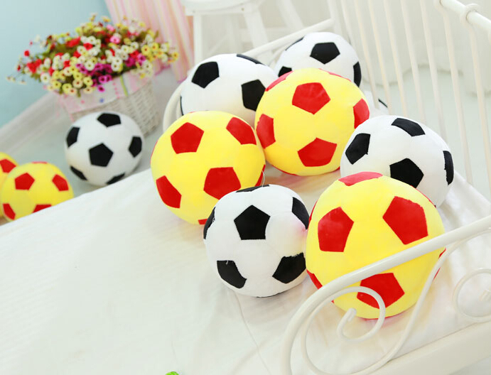 New Arrival Cheap Cartoon Football Plush Toy Lovely Gift Decoration Free Shipping XF-ZQ(China (Mainland))