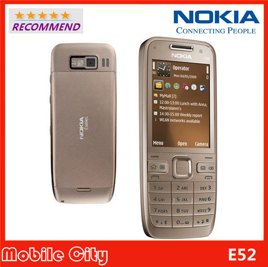 Nokia E52 Original Refurbished Mobile Phone Camera 3.2MP Bluetooth WIFI GPS Unlocked E52 Cell Phone Free Shipping(China (Mainland))
