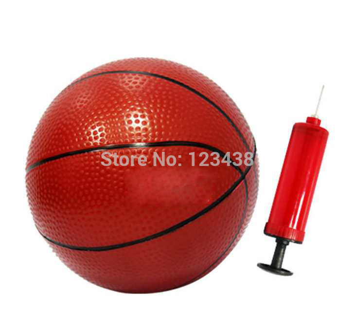 """Inflatable Toys Small rubber Basketball with Pump for Children 15cm 5.9""""(China (Mainland))"""