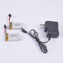 2pcs 7.4V 500mAh lipo Battery and charger for F182 F183 JJRC H8D H8C RC quadcopter drone spare parts