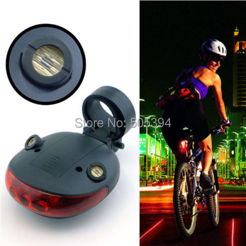 2 Laser + 5 LED Cycling Bicycle Bike Taillight Warning Lamp Flashing Alarm Light(China (Mainland))