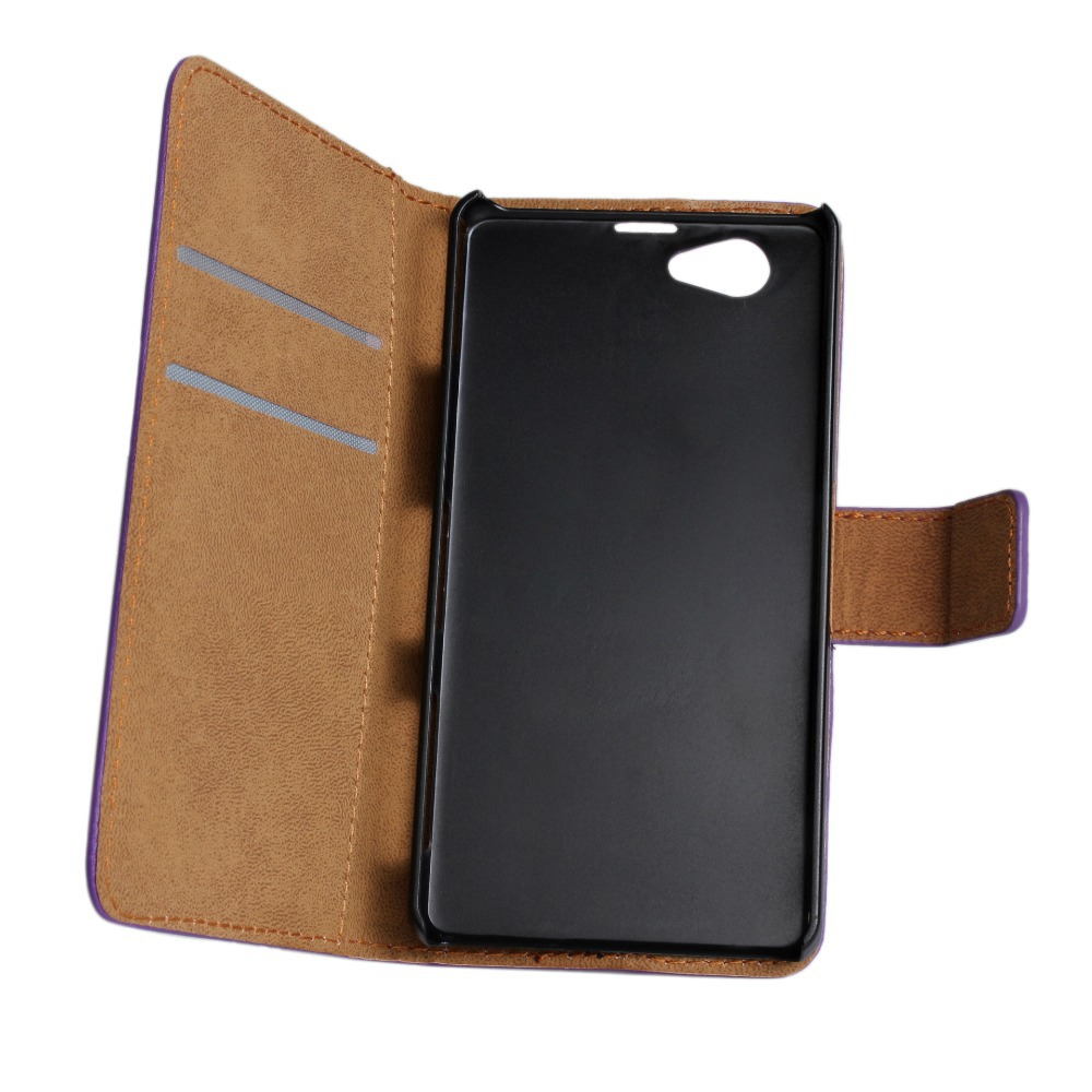 Vintage Wallet With Stand Genuine Real Leather Case for Sony Xperia Z1 Mini Retro Phone Accessories Luxury Cover for Xperia Z2(China (Mainland))
