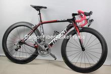 Carbon road bike THRUST alloy wheel with full carbon bike frame carbon complete bike also fit to racing bike on promotions(China (Mainland))