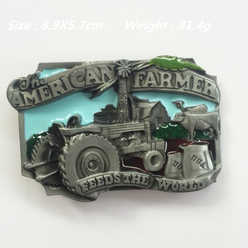 100% Brand New Western Fashion Australia farmer Metal belt buckle Suitable for 4cm wideth belt(China (Mainland))