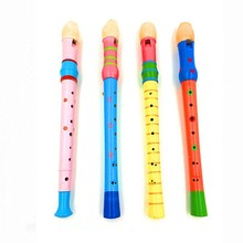 300pcs Well Designed Wooden Plastic Kid Piccolo Flute Musical Instrument Early Education Toys cultivate music lovers kids gift(China (Mainland))