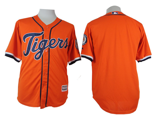 Detroit Tigers Mens Jerseys Blank Orange Baseball Jerseys 4576(China (Mainland))