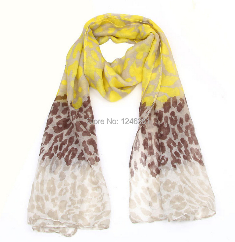 Free shipping Wholesale price Korean personality all-match leopard print Bali yarn manufacturers selling female shawl long scarf(China (Mainland))
