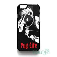 Fit for iPhone 4 4s 5 5s 5c se 6 6s 7 plus ipod touch 4/5/6 back skins cellphone case cover PUG LIFE
