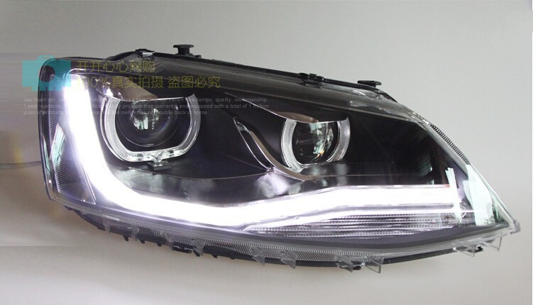 Auto Clud 2011-2014 For vw jetta headlights Double Angel Eyes LED light DRL car styling bi xenon lens volkswagen jetta head lamp