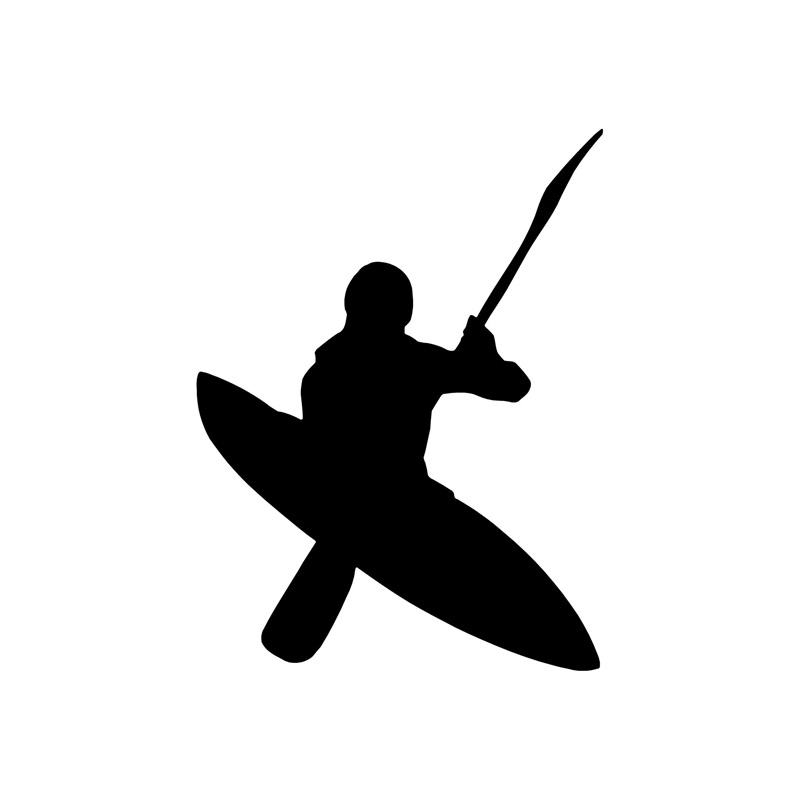 9.5*12.5CM Kayaking On The Outdoor Car Decals Cartoon Motorcycle Reflective Vinyl Stickers Black/Silver C7-0390(China (Mainland))