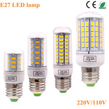 Buy Bombillas LED Lamp Spotlight E27 SMD 5730 lamparas LED Light 36 72 96Leds LED Bulb E27 220V Ampoule Candle Luz for $1.27 in AliExpress store