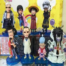 Anime One Piece Figures Punk Hazard Island Smoker Kuina Luffy Law Kinemon Momosuke Master Caesar Clown C.C PVC Action Figure