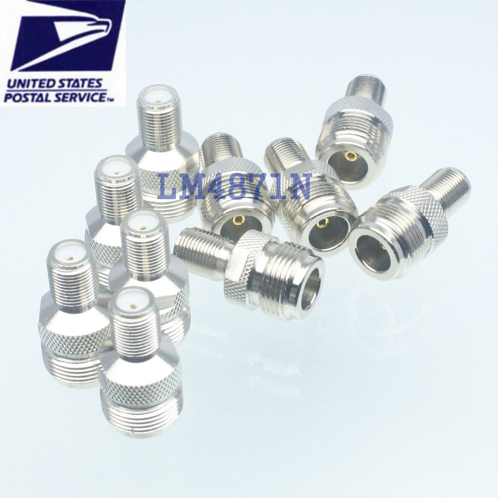 10pcs Adapter N female jack to F TV female RF connector straight(China (Mainland))