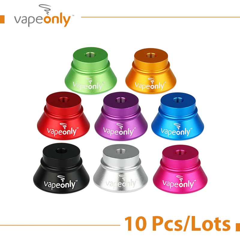 10 Pcs/Lots VapeOnly E Cigarette Stand Holder Aluminum Single-port E-cig Stand Base for 510 Thread Atomizer Vaporizer Accessory(China (Mainland))
