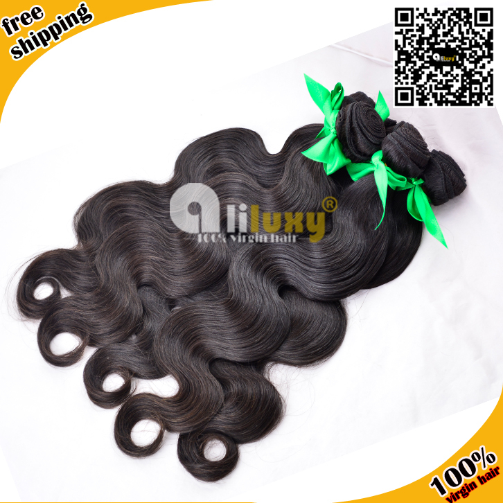 Luxy hair extension ,brazilian virgin hair body wave , 3pcs/lot free shipping , high quality <br><br>Aliexpress