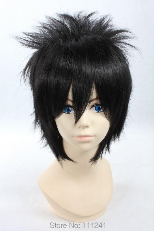 Uchiha Sasuke Black Short Shaggy Layered Cosplay Anime Wig,Coser Hair<br><br>Aliexpress