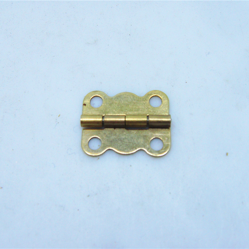 50pcs 16 * 13MM small wooden box hinge 4 division lace Yellow Pages iron Hinge herrajes muebles(China (Mainland))