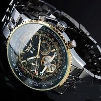 Nieuwe Militaire volledige Staal Merk Automatische Zelf wind Relogios Masculino Horloge Mechanische Fashion Luxe Horloge Tourbillon Klok